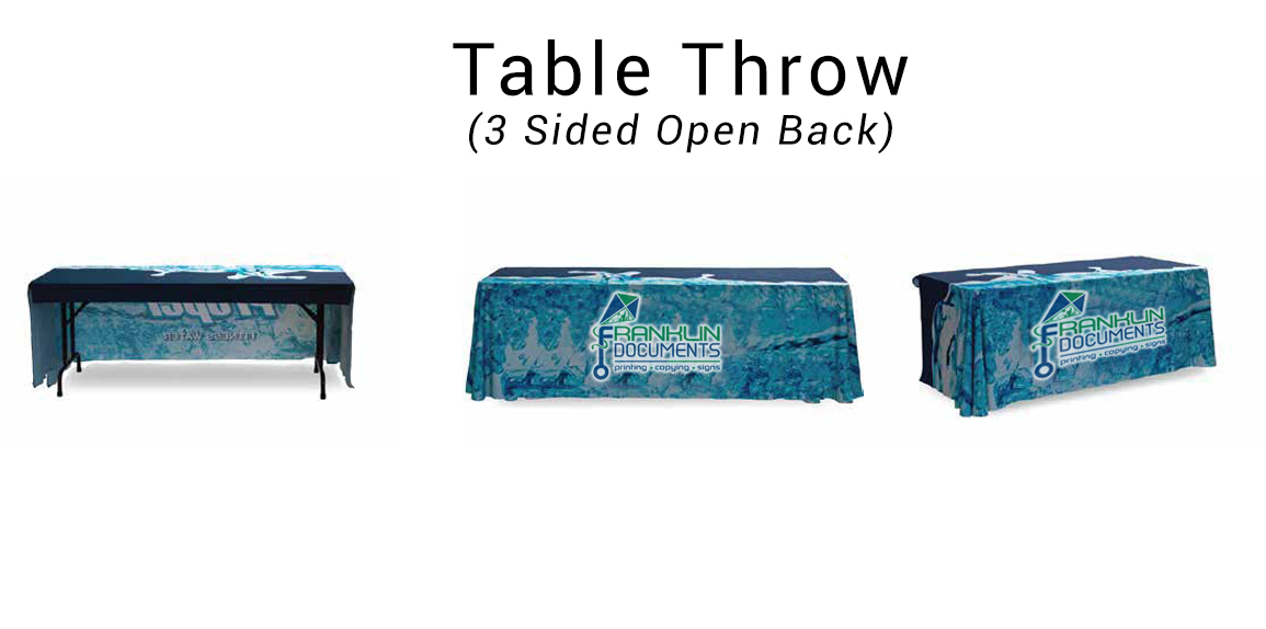 3 Sided Table Throw