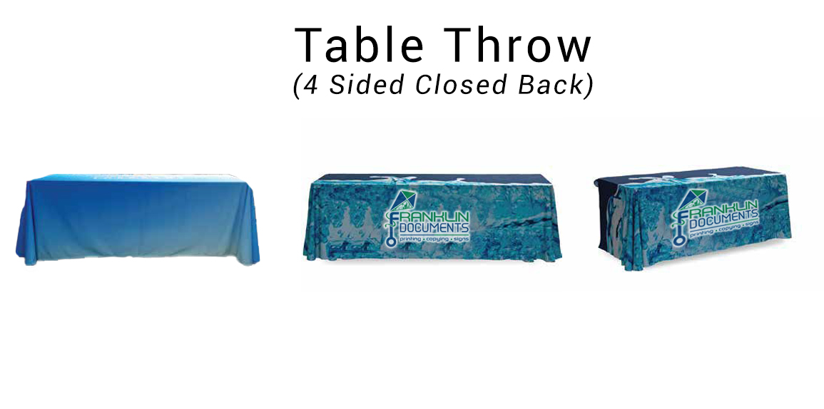 4 Sided Table Throw