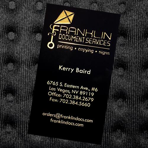 Las Vegas Printing Services Business Cards 7 Raised Foil